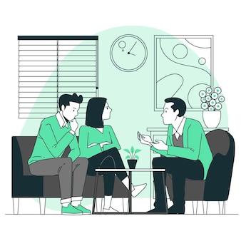 Illustrazione di concetto di consulenza matrimoniale