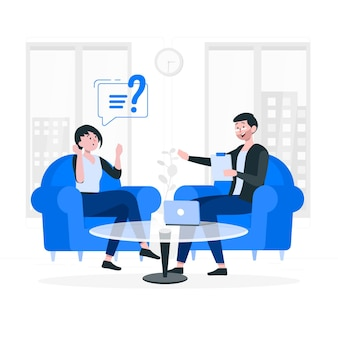 Illustrazione di concetto di consulenza