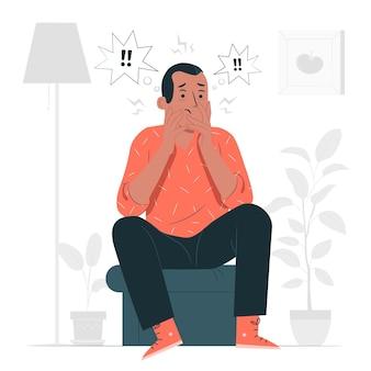 Illustrazione di concetto di disturbo da stress post-traumatico