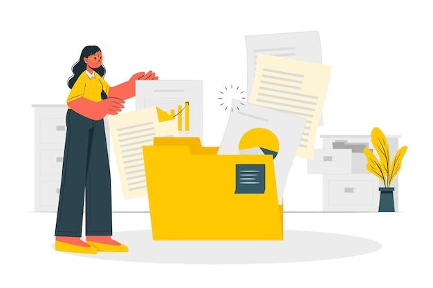 Illustrazione di concetto di documenti