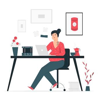 Illustrazione di concetto di donna moderna