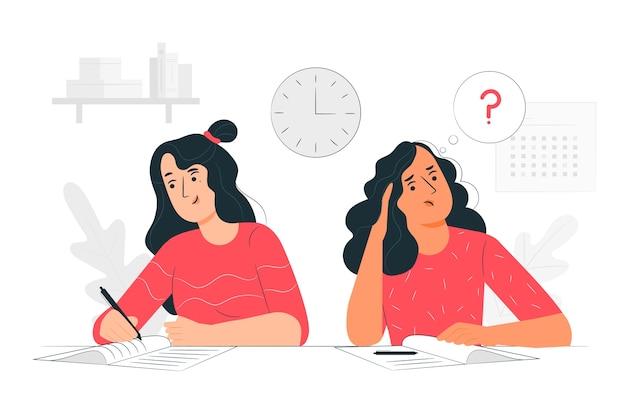 Illustrazione di concetto di esami