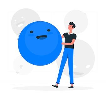 Illustrazione di concetto di faccina
