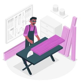 Illustrazione di concetto di falegname