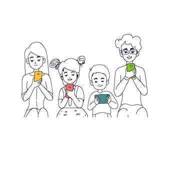 Illustrazione di concetto di famiglia