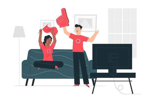 Illustrazione di concetto di fan