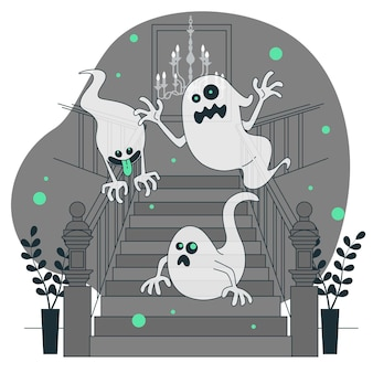 Illustrazione di concetto di fantasmi