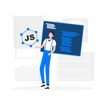 Illustrazione di concetto di framework javascript
