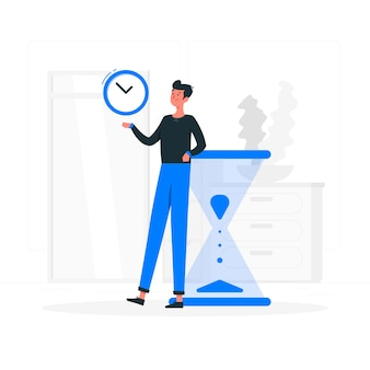 Illustrazione di concetto di gestione del tempo