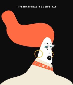 Illustrazione di concetto di giorno delle donne internazionali