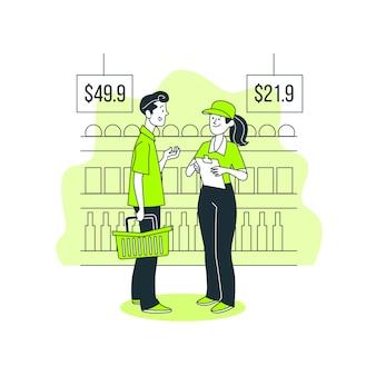 Illustrazione di concetto di indagine del cliente