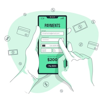 Illustrazione di concetto di informazioni di pagamento