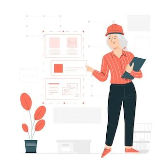 Illustrazione di concetto di ingegnere del software