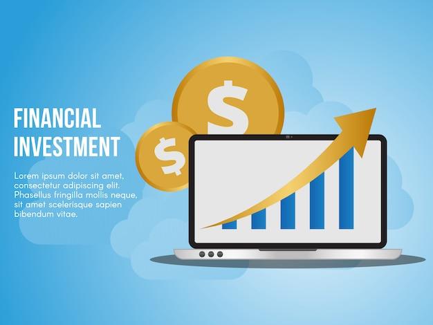 Illustrazione di concetto di investimento finanziario