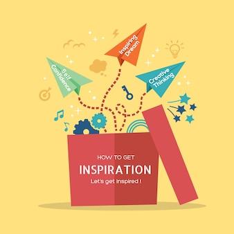 Illustrazione di concetto di ispirazione