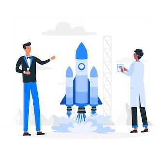 Illustrazione di concetto di lancio