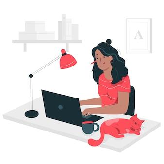 Illustrazione di concetto di libero professionista