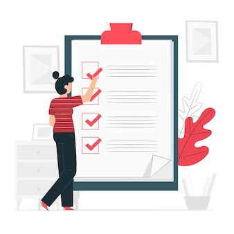 Illustrazione di concetto di lista di controllo