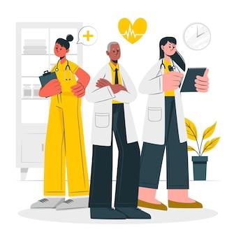 Illustrazione di concetto di medici