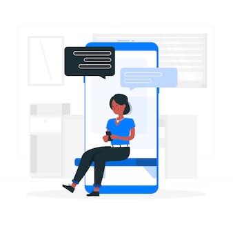 Illustrazione di concetto di messaggistica