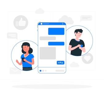 Illustrazione di concetto di messenger