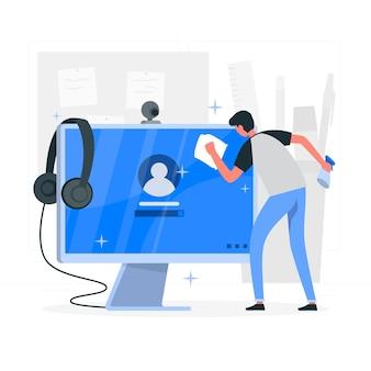 Illustrazione di concetto di monitor (computer)