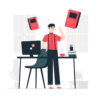 Illustrazione di concetto di nerd