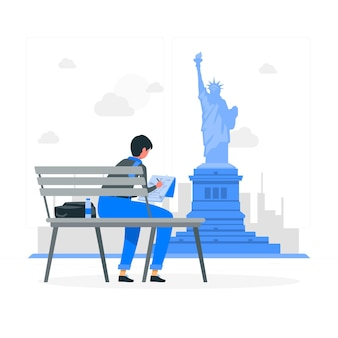 Illustrazione di concetto di new york