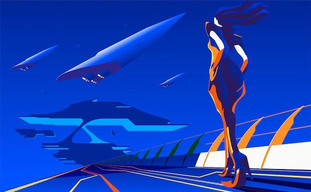 Illustrazione di concetto di nuovo viaggio