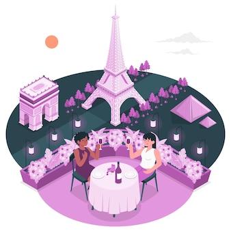 Illustrazione di concetto di parigi
