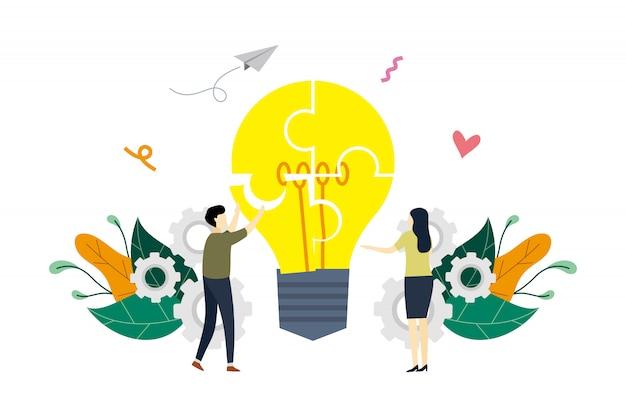 Illustrazione di concetto di partnership commerciali