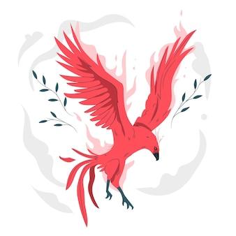 Illustrazione di concetto di phoenix volante