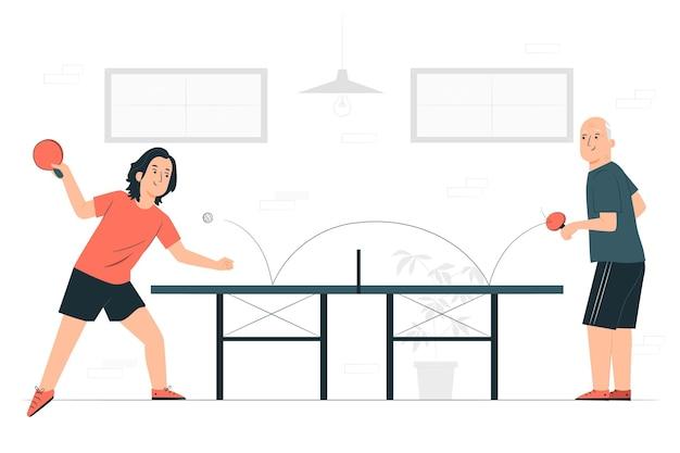 Illustrazione di concetto di ping-pong