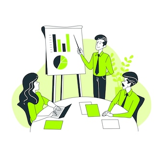 Illustrazione di concetto di presentazione