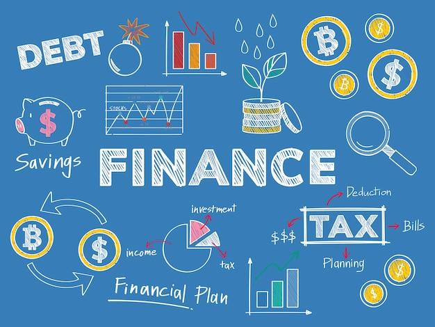 Illustrazione di concetto di prestazioni finanziarie e finanziarie