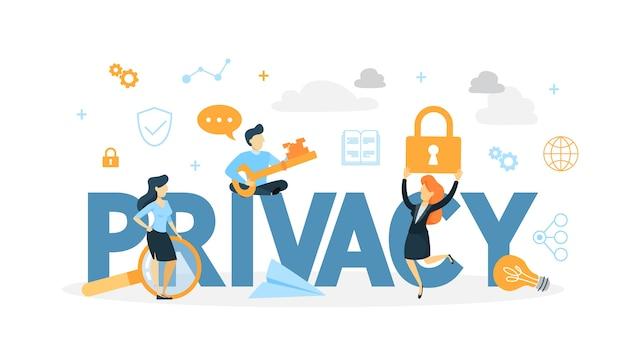 Illustrazione di concetto di privacy dei dati