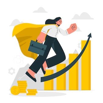 Illustrazione di concetto di progresso di carriera