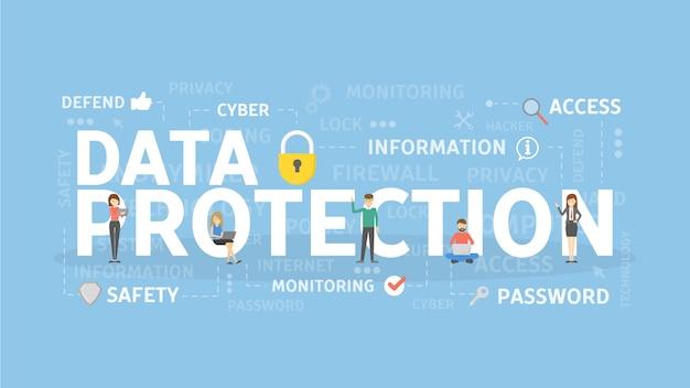 Illustrazione di concetto di protezione dei dati.