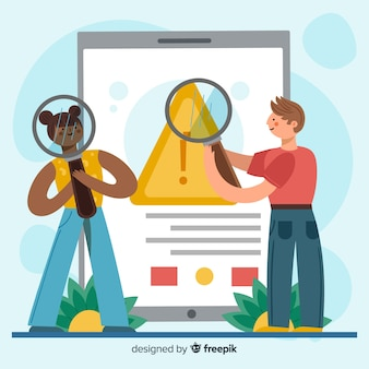 Illustrazione di concetto di ricerca lente d'ingrandimento