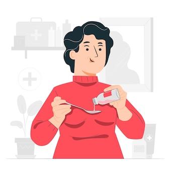 Illustrazione di concetto di rimedio (medicina)