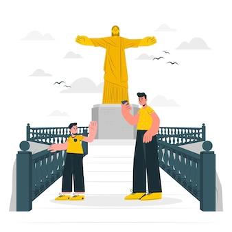 Illustrazione di concetto di rio de janeiro