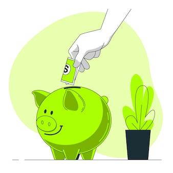 Illustrazione di concetto di risparmio