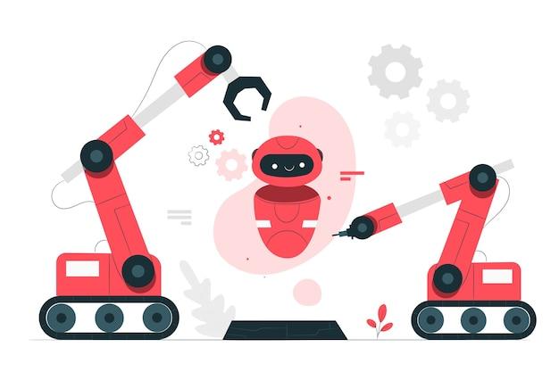 Illustrazione di concetto di robotica