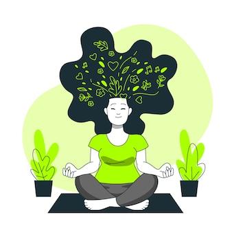 Illustrazione di concetto di salute mentale