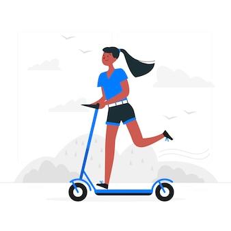 Illustrazione di concetto di scooter
