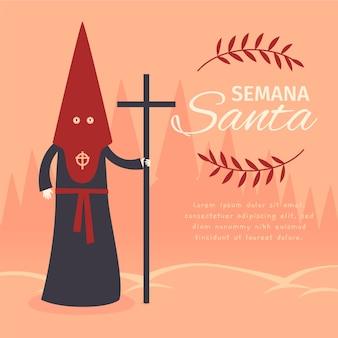 Illustrazione di concetto di settimana santa