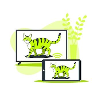 Illustrazione di concetto di sincronizzazione