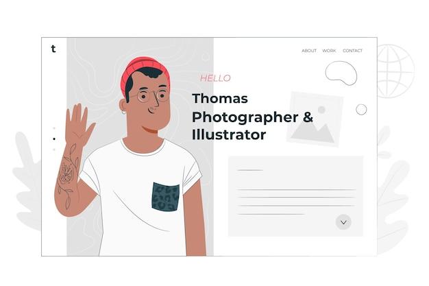 Illustrazione di concetto di sito personale