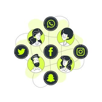 Illustrazione di concetto di social media