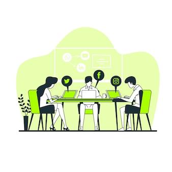 Illustrazione di concetto di social network